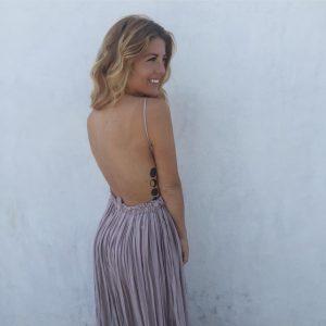 fashionveggie backless dress, fashion veggie, moon tattoo