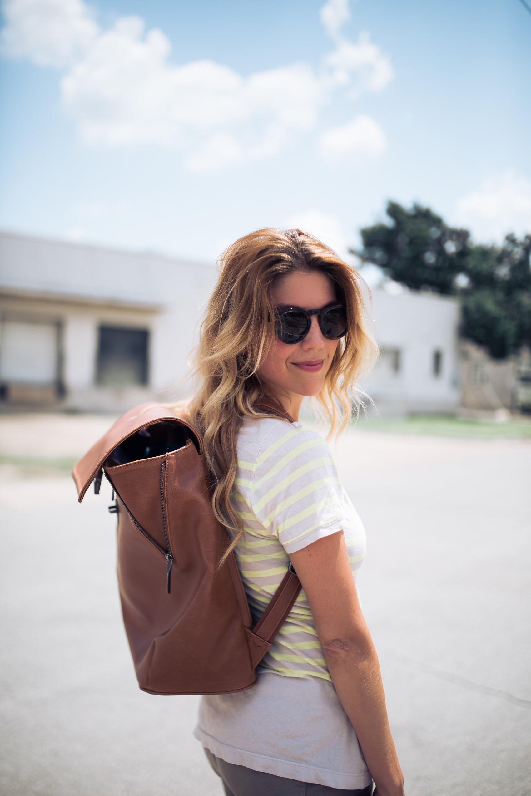 fashionveggie with matt & nat vegan leather backpack