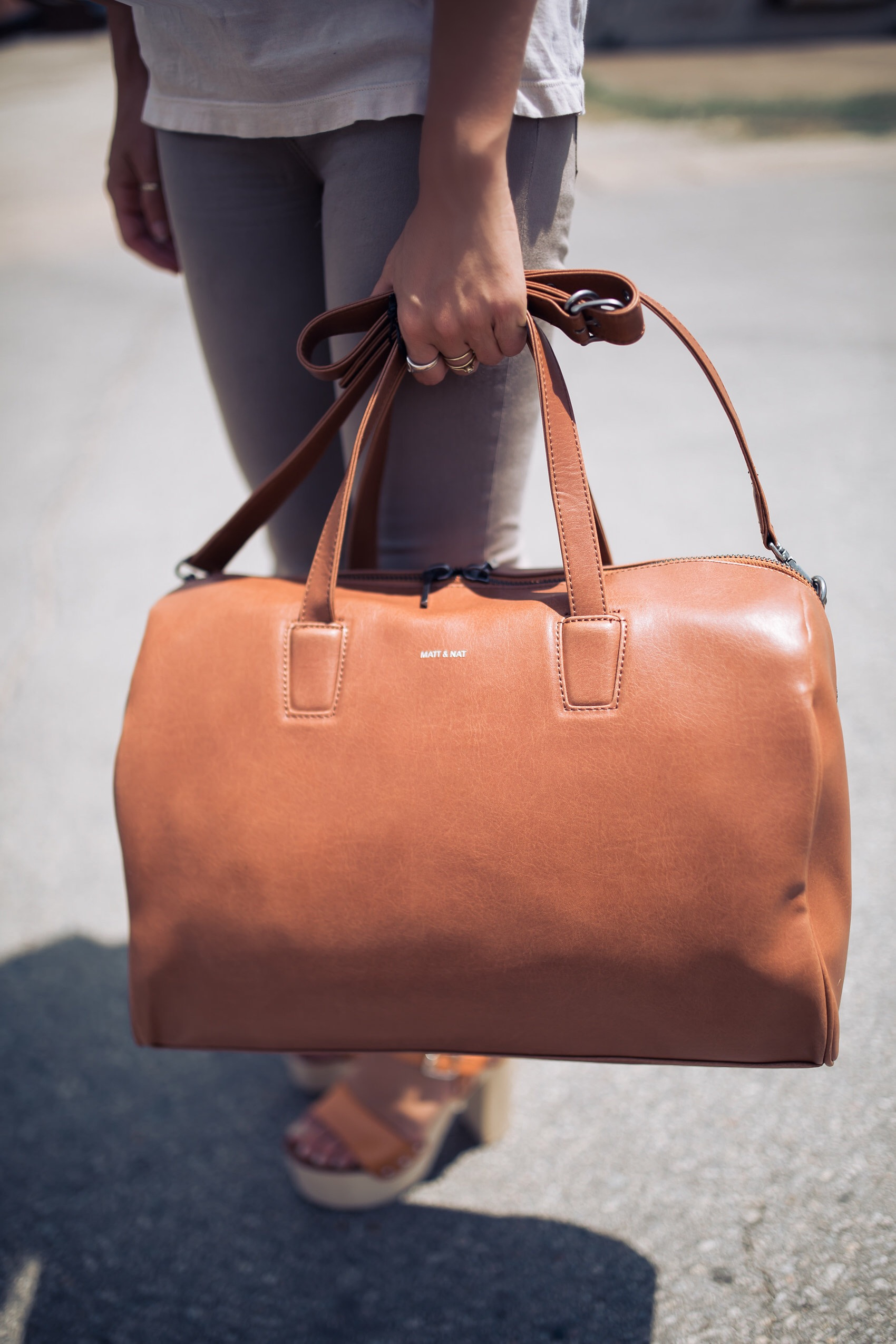 matt & nat duffle bag weekender vegan leather