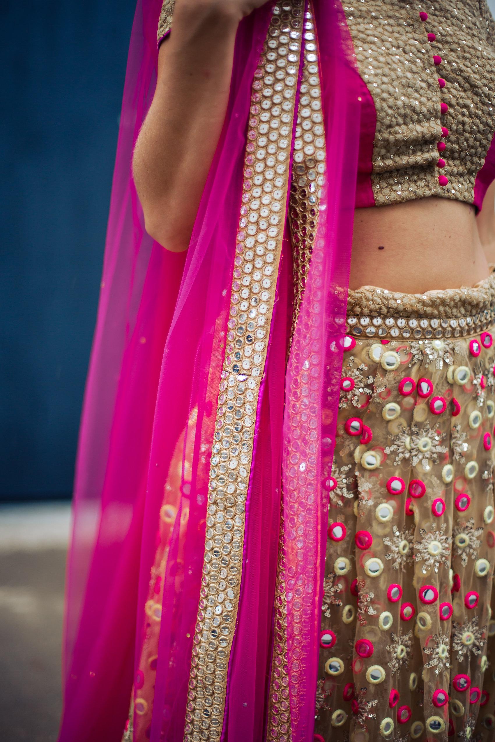 pastels by aj indian custom-made wedding dress worn by blogger fashionveggie