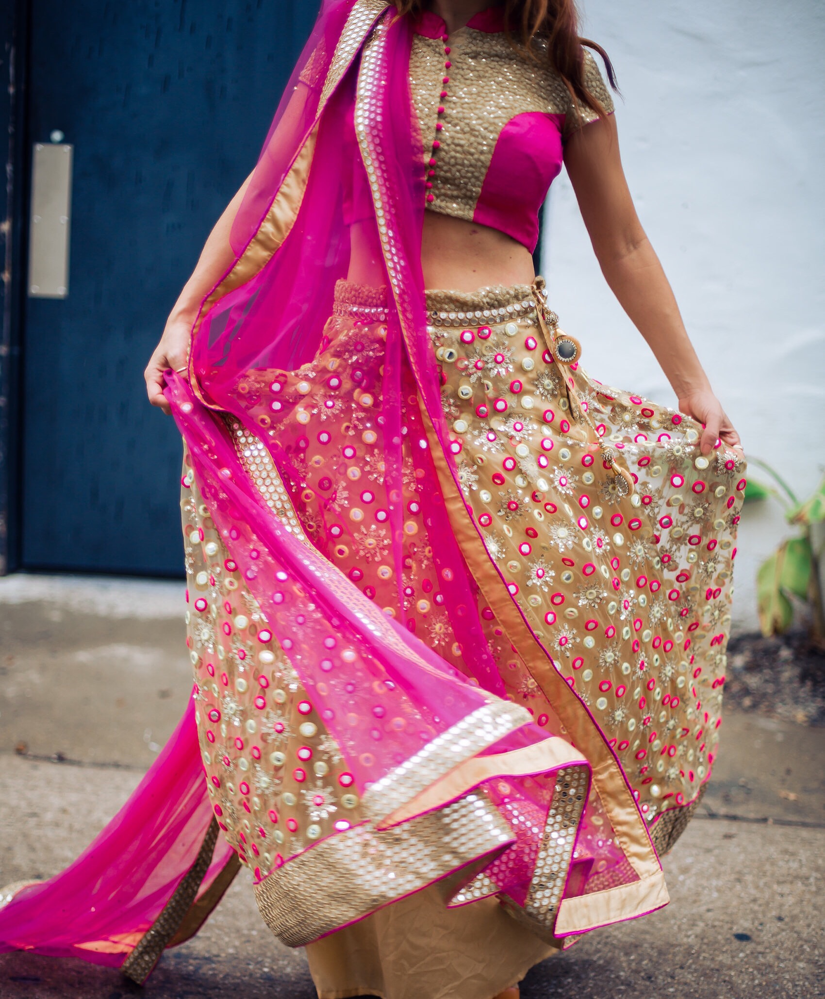 pastels by aj custom-made indian wedding outfit dress