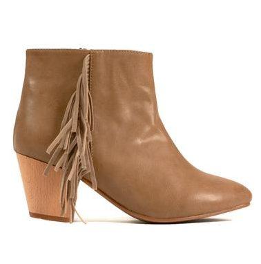 cri de coeur brown booties fashionveggie