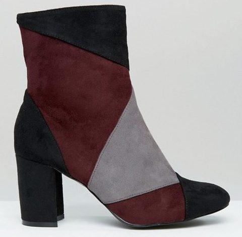 patchwork vegan boots