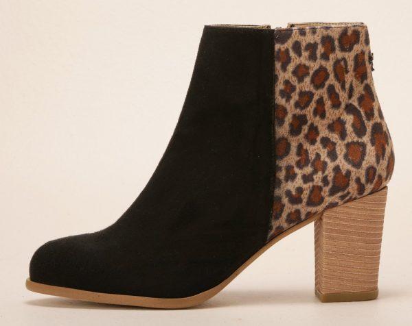 leopard vegan boots
