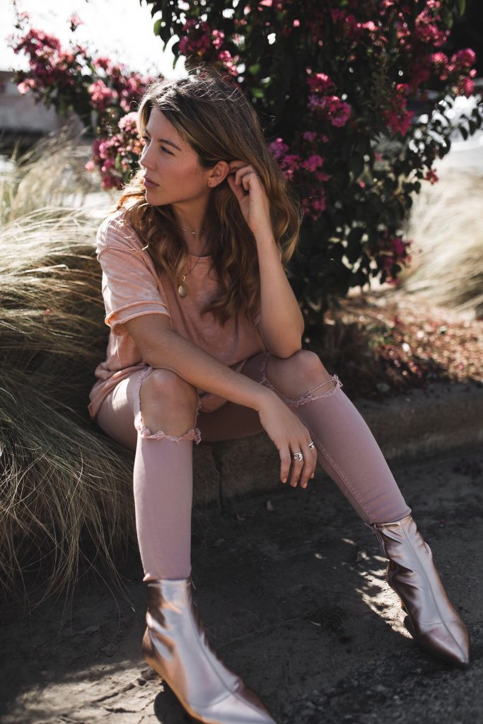 free people rose gold