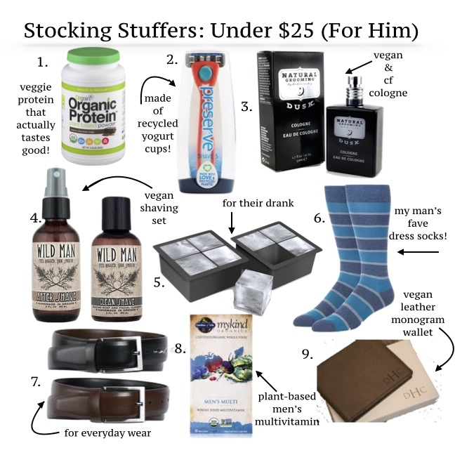 vegan his & her's stocking stuffers