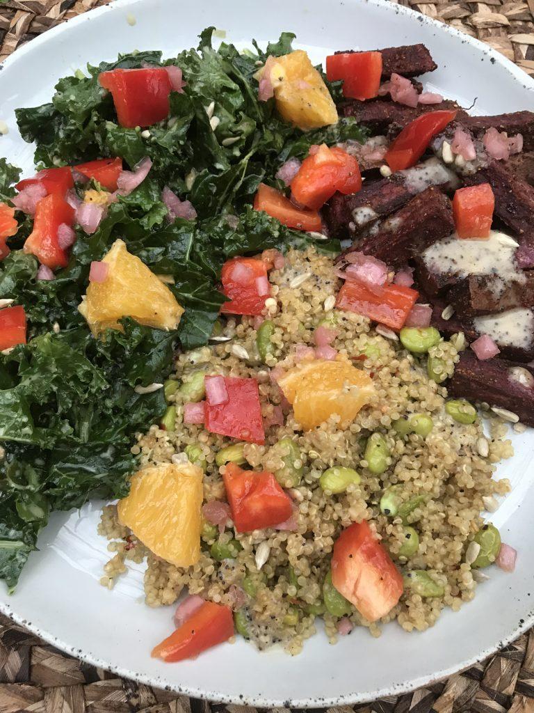 sweet potato bowl vegan meal green chef
