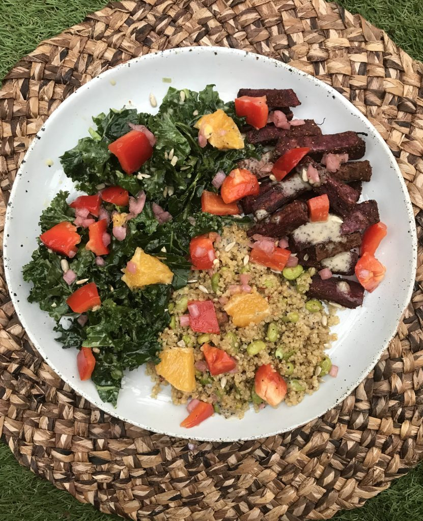 green chef sweet potato bowl vegan meal