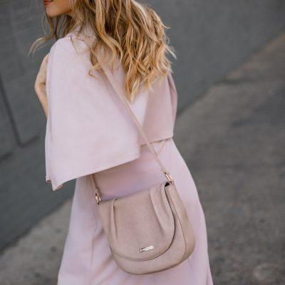 Dressing The Bump: Cape Dress + Jeane & Jax Vegan Bag